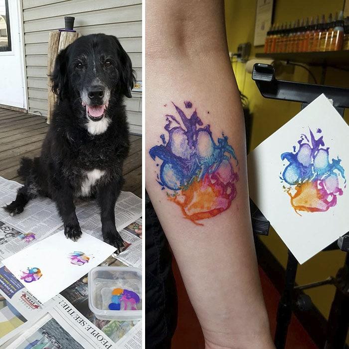 21 gazdi, aki a kutyája tappancsát tetováltatta magára1
