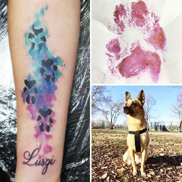 21 gazdi, aki a kutyája tappancsát tetováltatta magára7