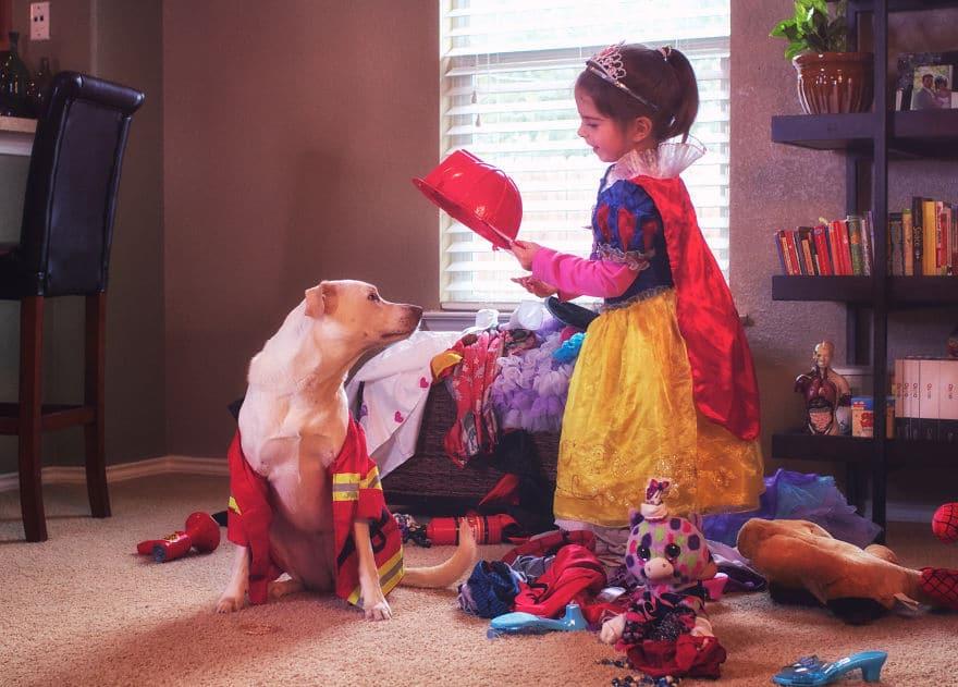Az édesanya örökbe fogadott egy menhelyi kutyát3