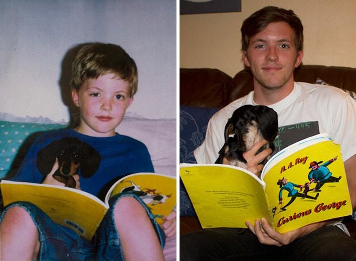 Újrafotózták gyermekkori képeiket