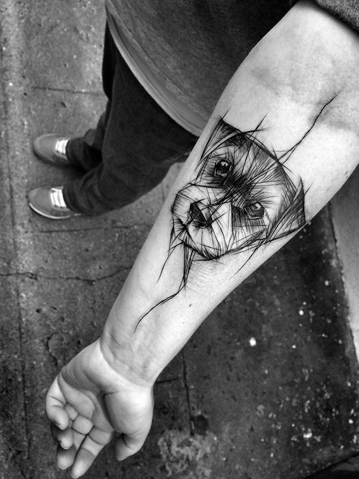 szuper kutyás tetoválás