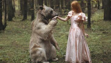 orosz fotós igazi állatokkal készít képeket