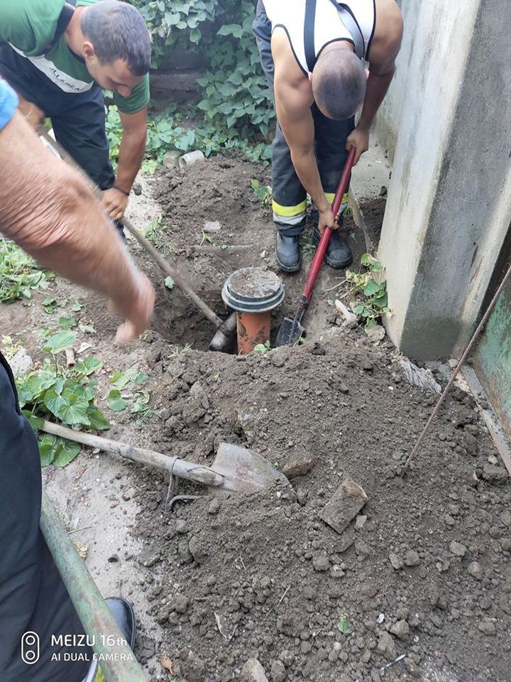 Szennyvízcsőbe szorult kiskutya életét mentették meg