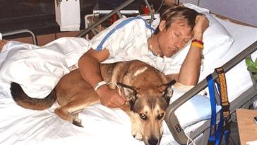 Az orvosok azt mondták, hogy vigye ki a kutyát a kórteremből